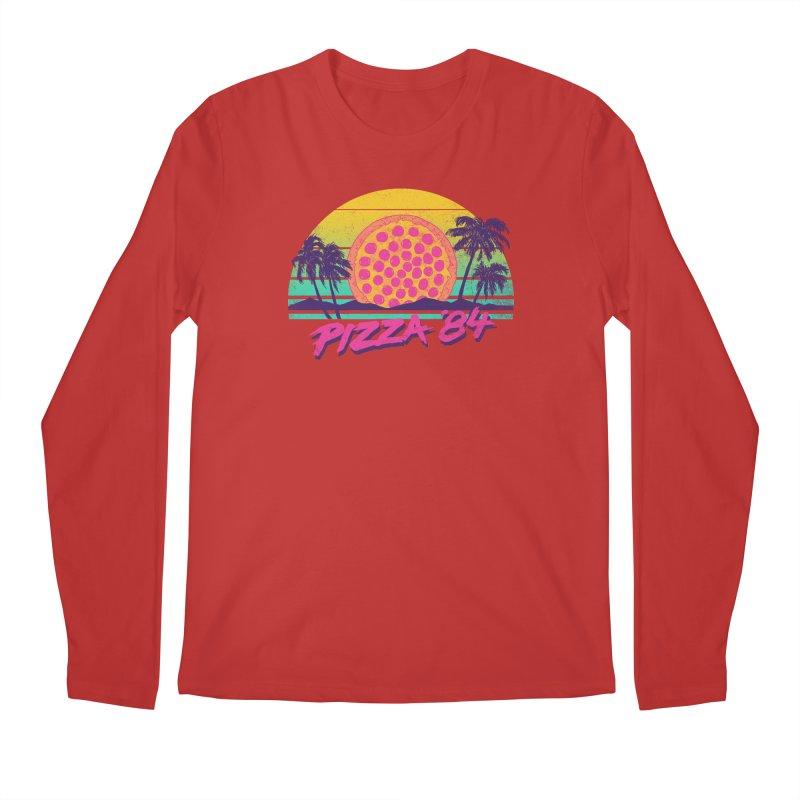 Pizza '84 Men's Longsleeve T-Shirt by hillarywhiterabbit's Artist Shop