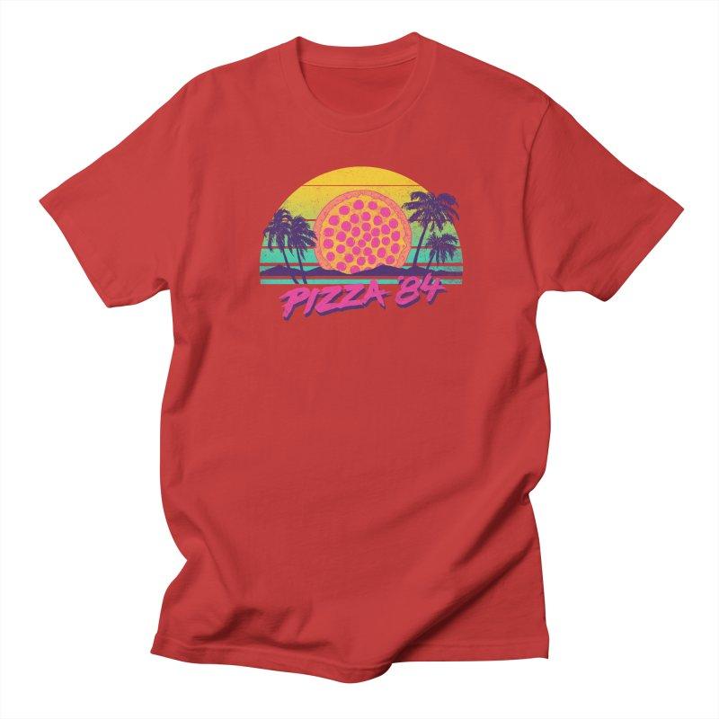 Pizza '84 Men's T-shirt by hillarywhiterabbit's Artist Shop