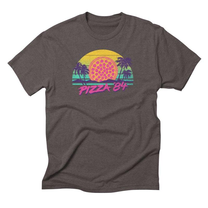 Pizza '84 Men's Triblend T-shirt by hillarywhiterabbit's Artist Shop