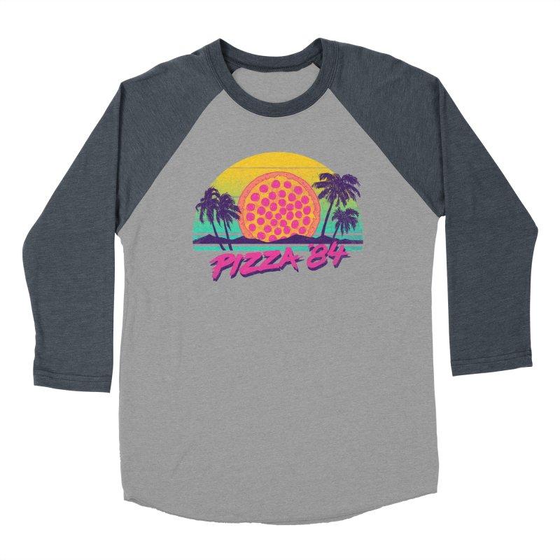 Pizza '84 Men's Baseball Triblend T-Shirt by hillarywhiterabbit's Artist Shop