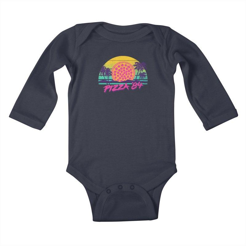 Pizza '84 Kids Baby Longsleeve Bodysuit by hillarywhiterabbit's Artist Shop