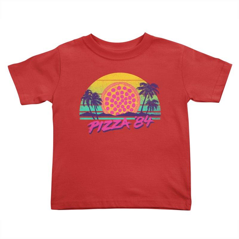 Pizza '84 Kids Toddler T-Shirt by hillarywhiterabbit's Artist Shop
