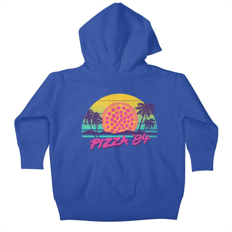 Pizza '84 Kids Baby Zip-Up Hoody by hillarywhiterabbit's Artist Shop