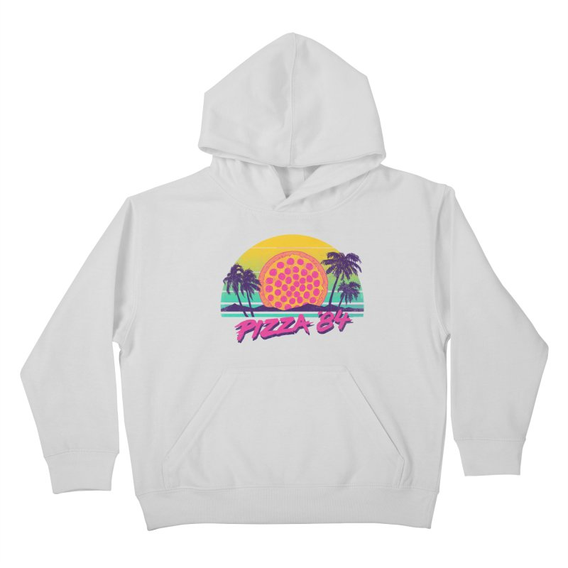 Pizza '84 Kids Pullover Hoody by hillarywhiterabbit's Artist Shop