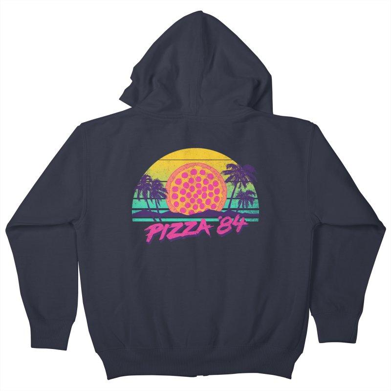 Pizza '84 Kids Zip-Up Hoody by hillarywhiterabbit's Artist Shop