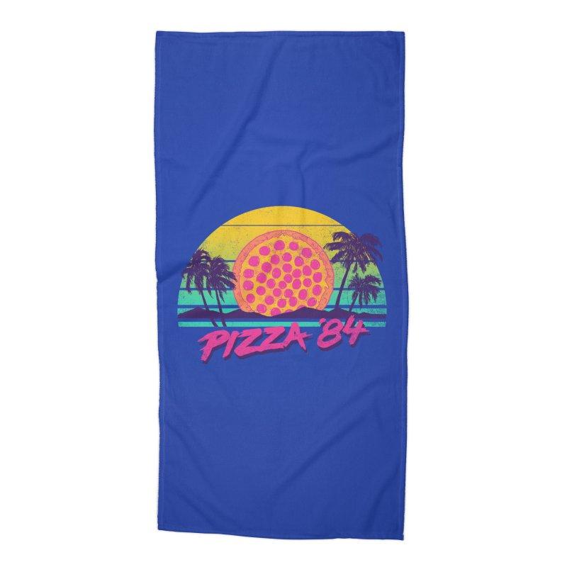 Pizza '84 Accessories Beach Towel by hillarywhiterabbit's Artist Shop