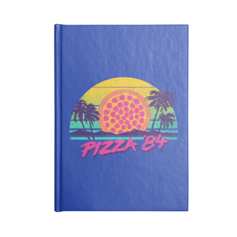 Pizza '84 Accessories Notebook by hillarywhiterabbit's Artist Shop