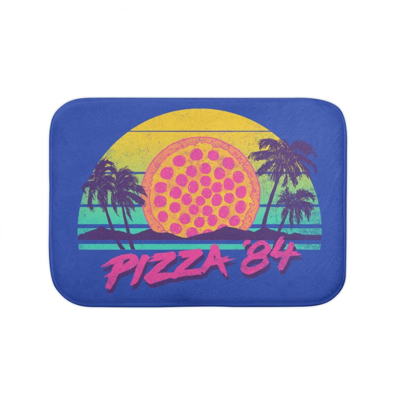 Pizza '84 Home Bath Mat by hillarywhiterabbit's Artist Shop