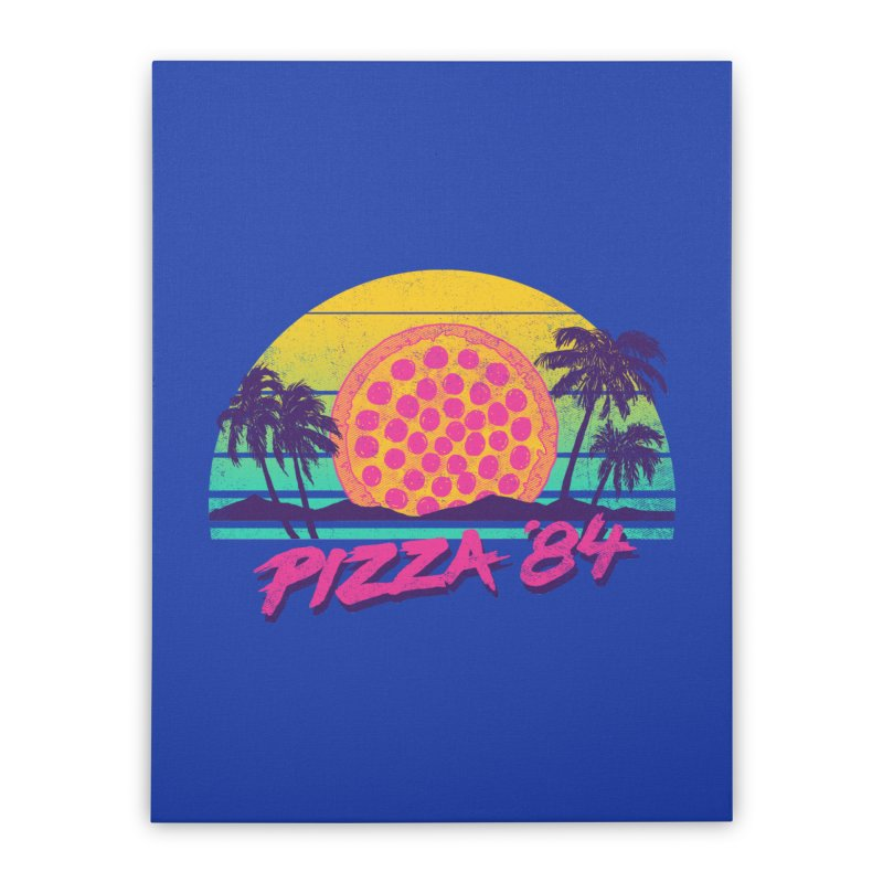 Pizza '84 Home Stretched Canvas by hillarywhiterabbit's Artist Shop