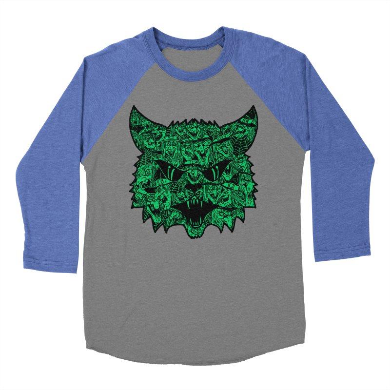 Kitty Witches Men's Baseball Triblend T-Shirt by hillarywhiterabbit's Artist Shop