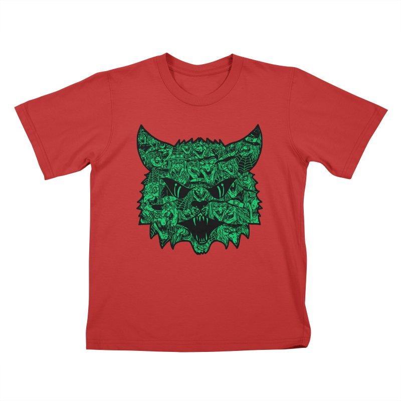 Kitty Witches Kids T-shirt by hillarywhiterabbit's Artist Shop