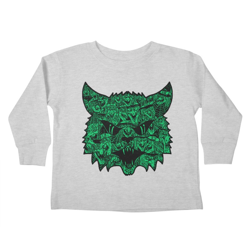 Kitty Witches Kids Toddler Longsleeve T-Shirt by hillarywhiterabbit's Artist Shop