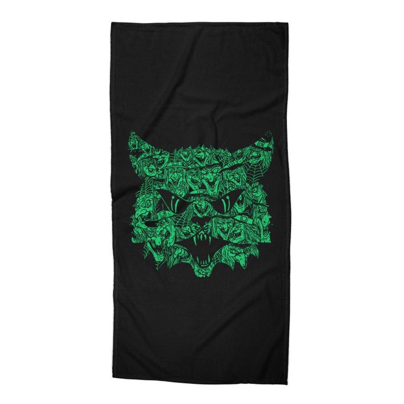 Kitty Witches Accessories Beach Towel by hillarywhiterabbit's Artist Shop