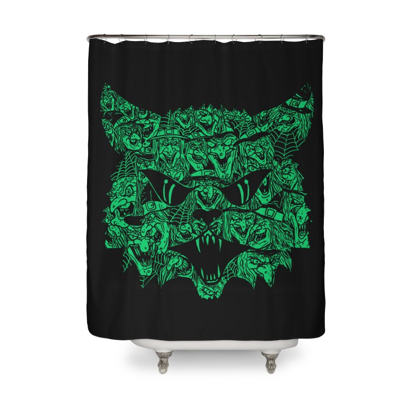 Kitty Witches Home Shower Curtain by hillarywhiterabbit's Artist Shop