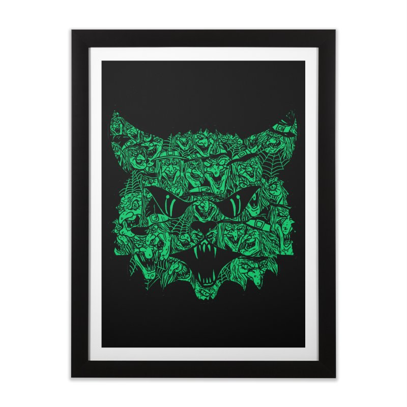 Kitty Witches Home Framed Fine Art Print by hillarywhiterabbit's Artist Shop