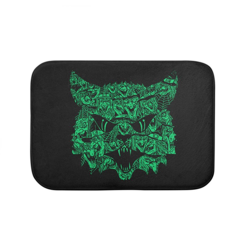 Kitty Witches Home Bath Mat by hillarywhiterabbit's Artist Shop