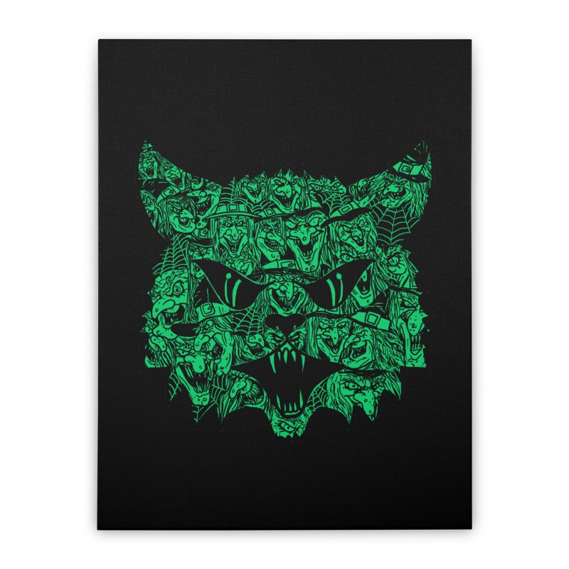 Kitty Witches Home Stretched Canvas by hillarywhiterabbit's Artist Shop