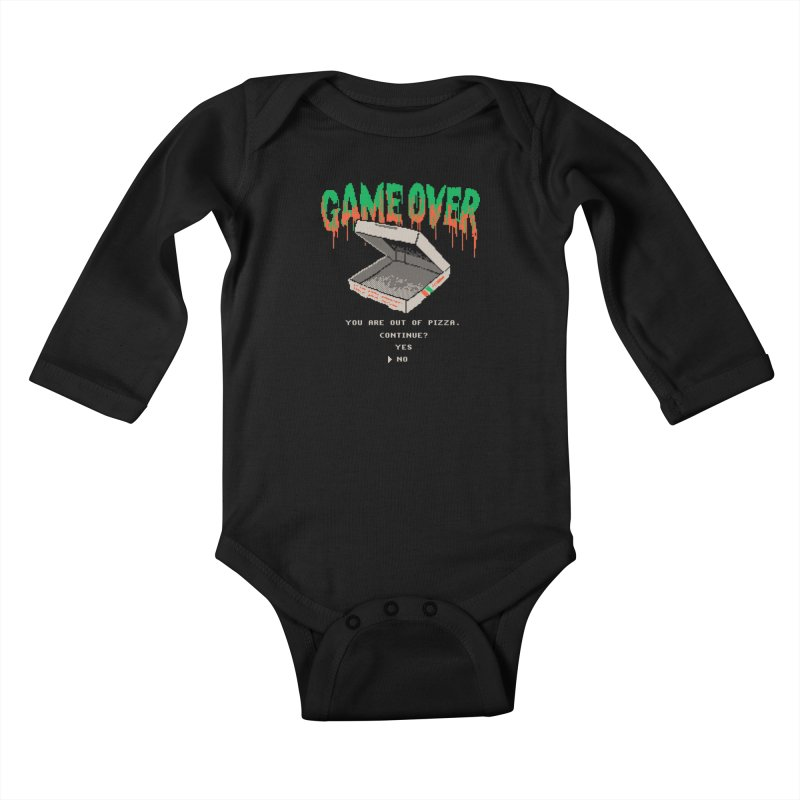 You Are Out Of Pizza Kids Baby Longsleeve Bodysuit by hillarywhiterabbit's Artist Shop
