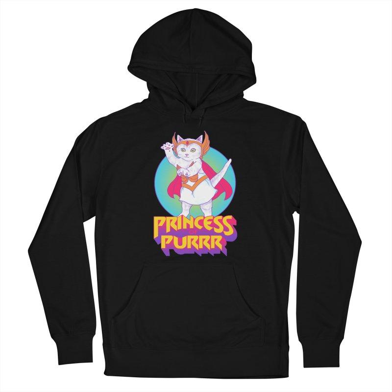 Princess Of Purrr Women's Pullover Hoody by hillarywhiterabbit's Artist Shop