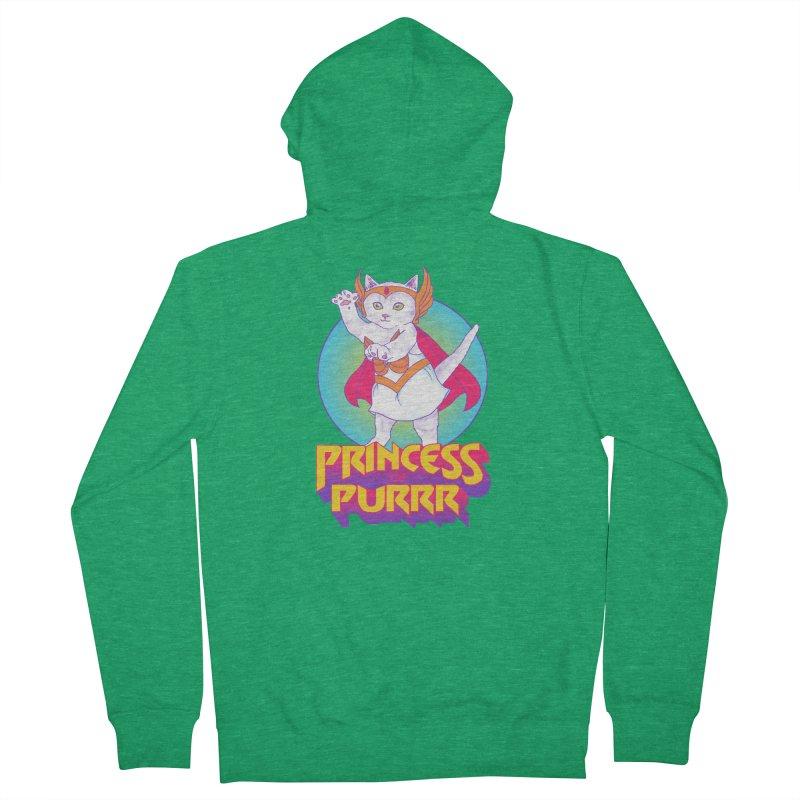 Princess Of Purrr Women's Zip-Up Hoody by hillarywhiterabbit's Artist Shop