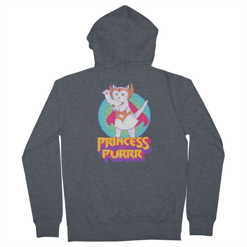 Princess Of Purrr Men's Zip-Up Hoody by hillarywhiterabbit's Artist Shop