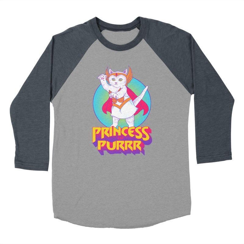 Princess Of Purrr Women's Baseball Triblend T-Shirt by hillarywhiterabbit's Artist Shop