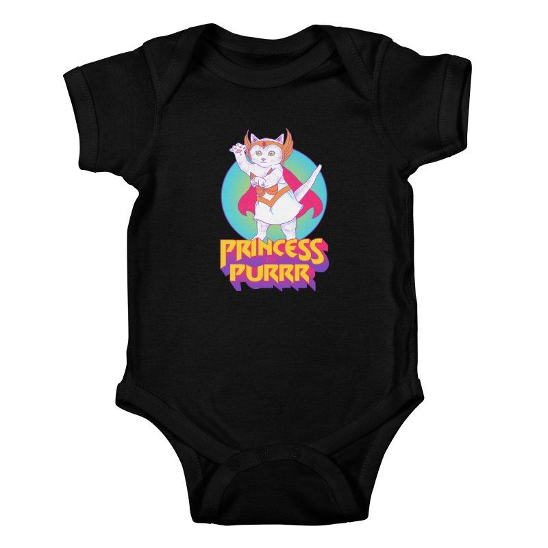 Princess Of Purrr Kids Baby Bodysuit by hillarywhiterabbit's Artist Shop