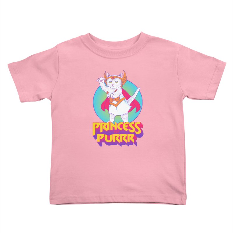 Princess Of Purrr Kids Toddler T-Shirt by hillarywhiterabbit's Artist Shop