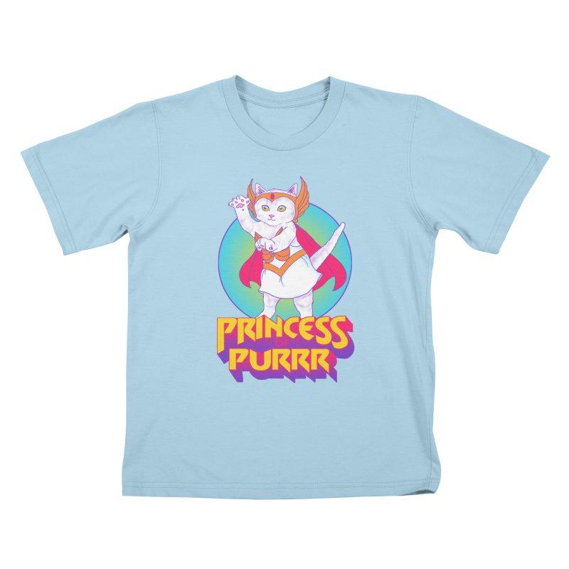 Princess Of Purrr Kids T-shirt by hillarywhiterabbit's Artist Shop