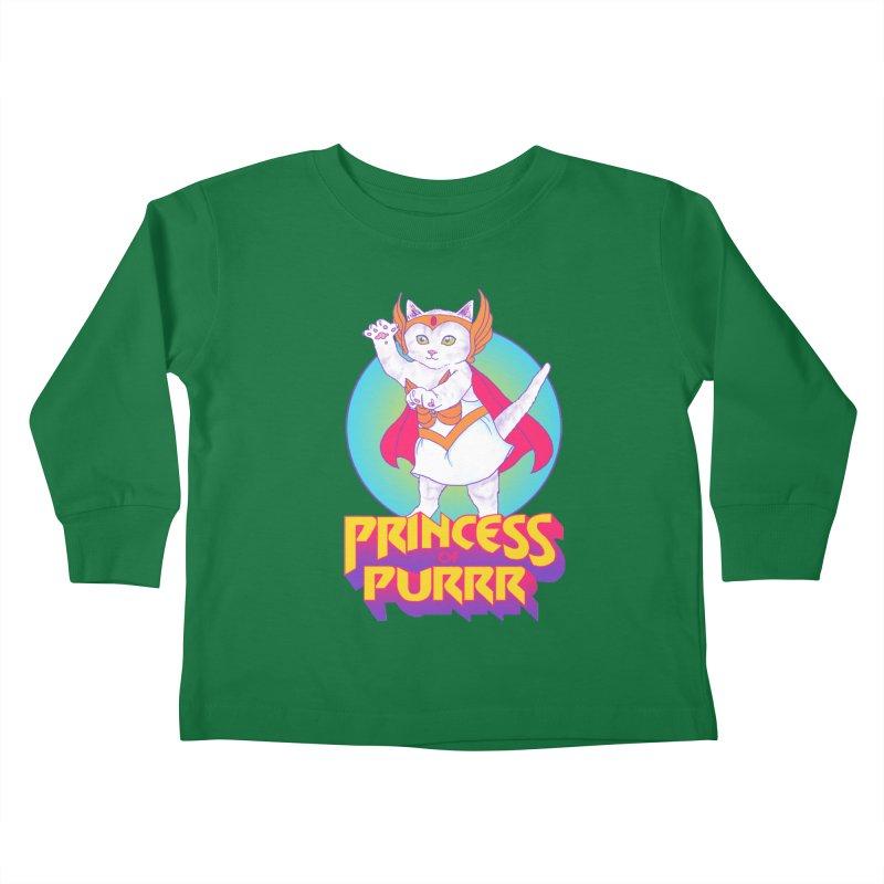 Princess Of Purrr Kids Toddler Longsleeve T-Shirt by hillarywhiterabbit's Artist Shop