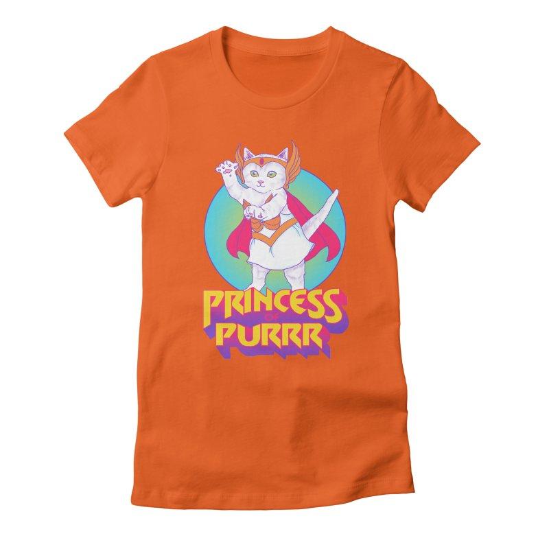 Princess Of Purrr Women's Fitted T-Shirt by hillarywhiterabbit's Artist Shop