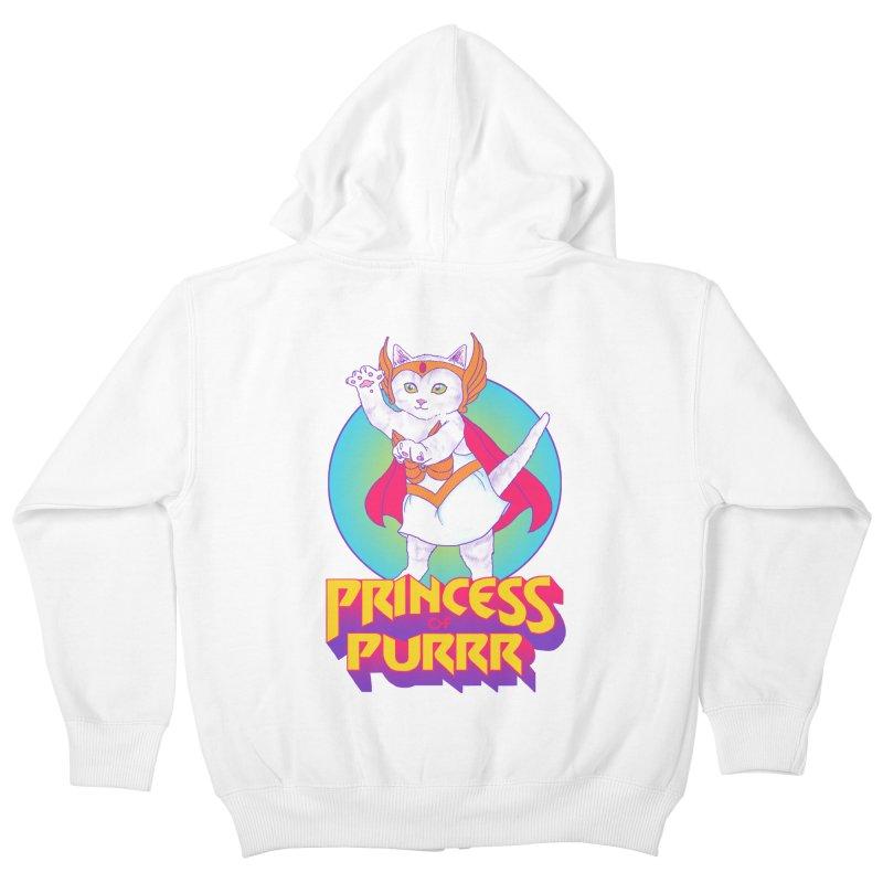 Princess Of Purrr Kids Zip-Up Hoody by hillarywhiterabbit's Artist Shop