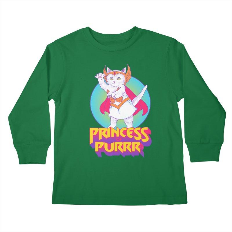 Princess Of Purrr Kids Longsleeve T-Shirt by hillarywhiterabbit's Artist Shop
