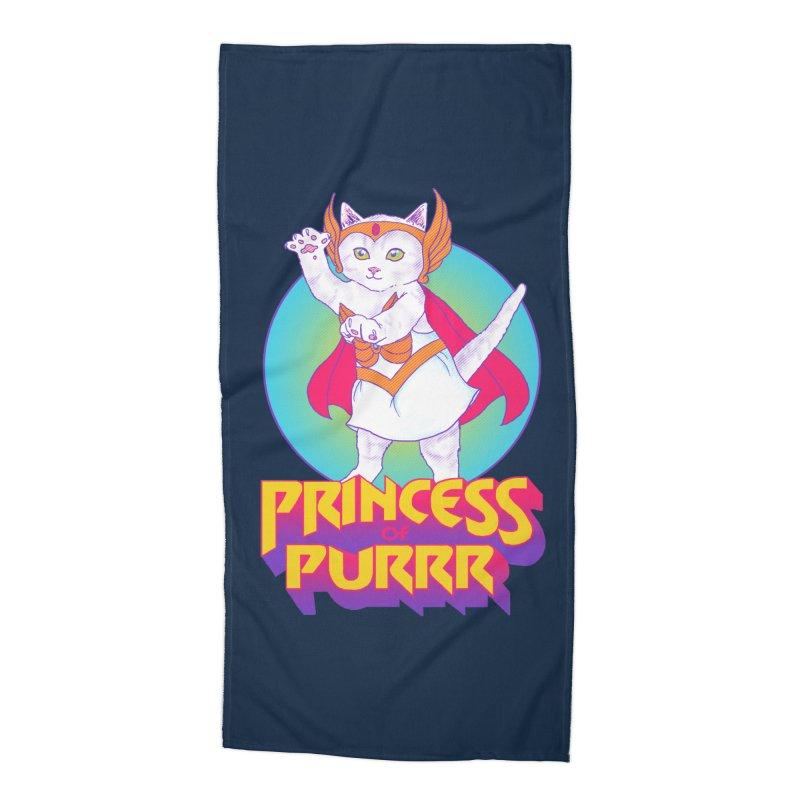 Princess Of Purrr Accessories Beach Towel by hillarywhiterabbit's Artist Shop