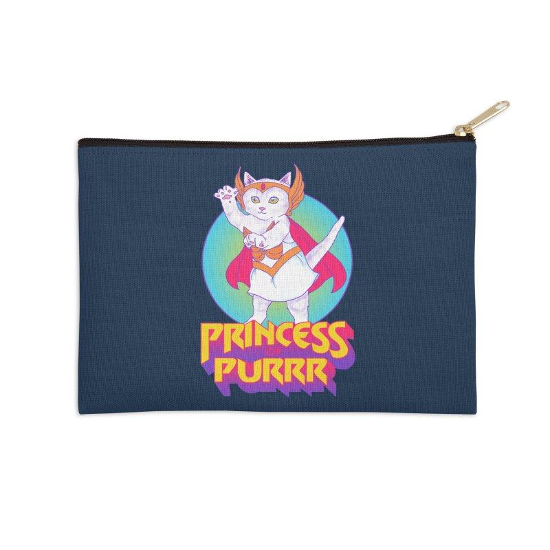 Princess Of Purrr Accessories Zip Pouch by hillarywhiterabbit's Artist Shop