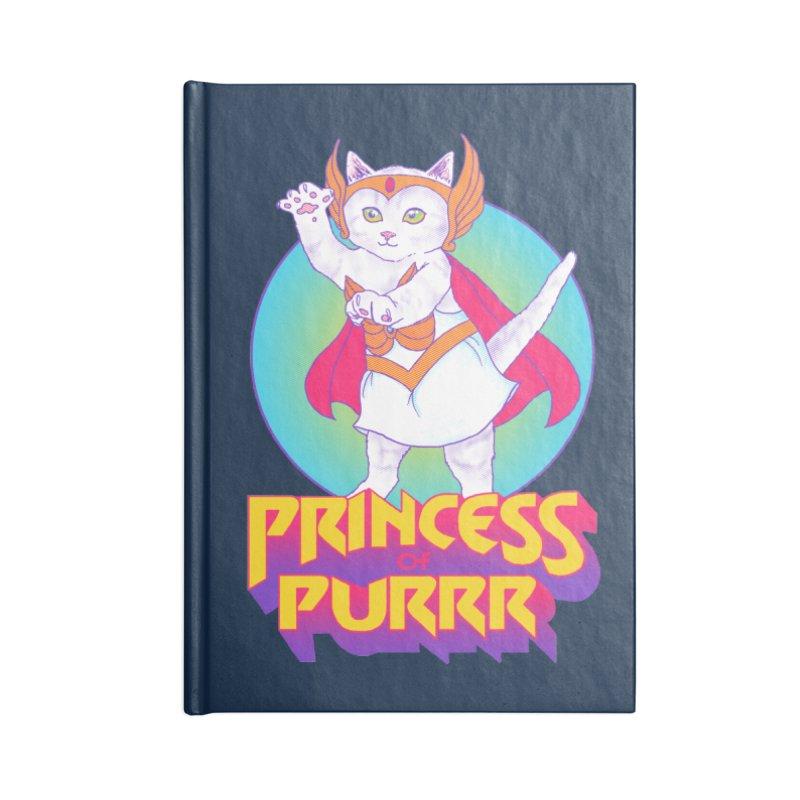 Princess Of Purrr Accessories Notebook by hillarywhiterabbit's Artist Shop
