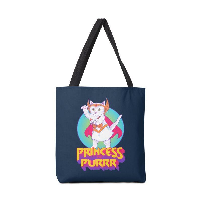 Princess Of Purrr Accessories Bag by hillarywhiterabbit's Artist Shop