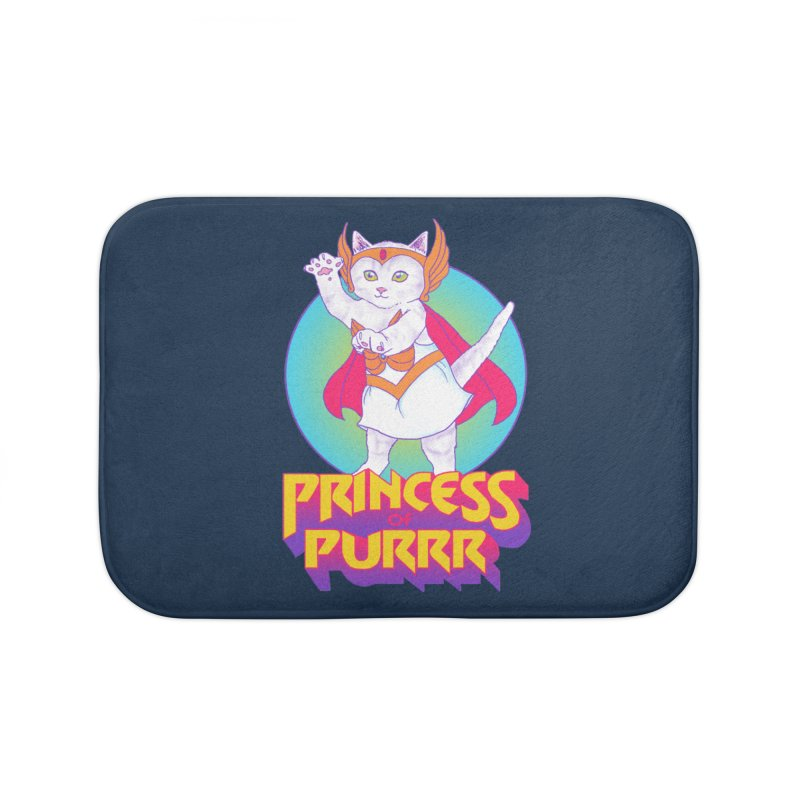 Princess Of Purrr Home Bath Mat by hillarywhiterabbit's Artist Shop