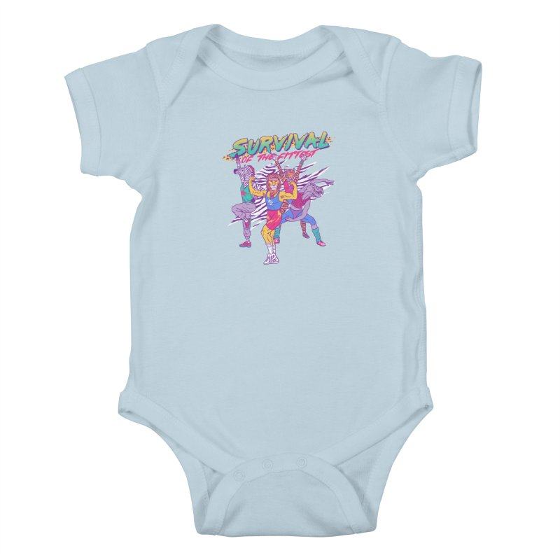 Survival Of The Fittest Kids Baby Bodysuit by hillarywhiterabbit's Artist Shop