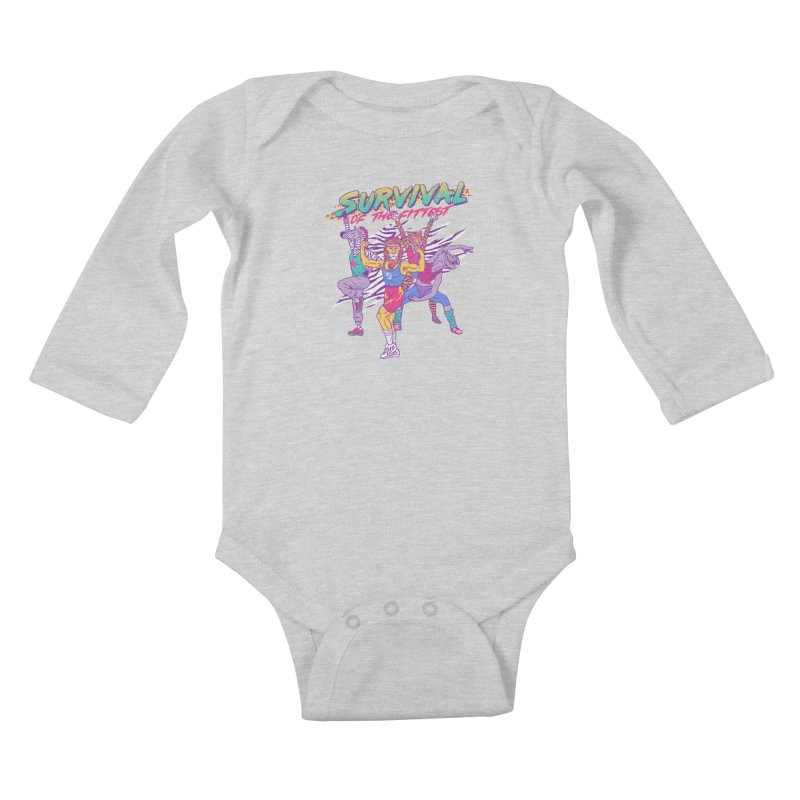Survival Of The Fittest Kids Baby Longsleeve Bodysuit by hillarywhiterabbit's Artist Shop