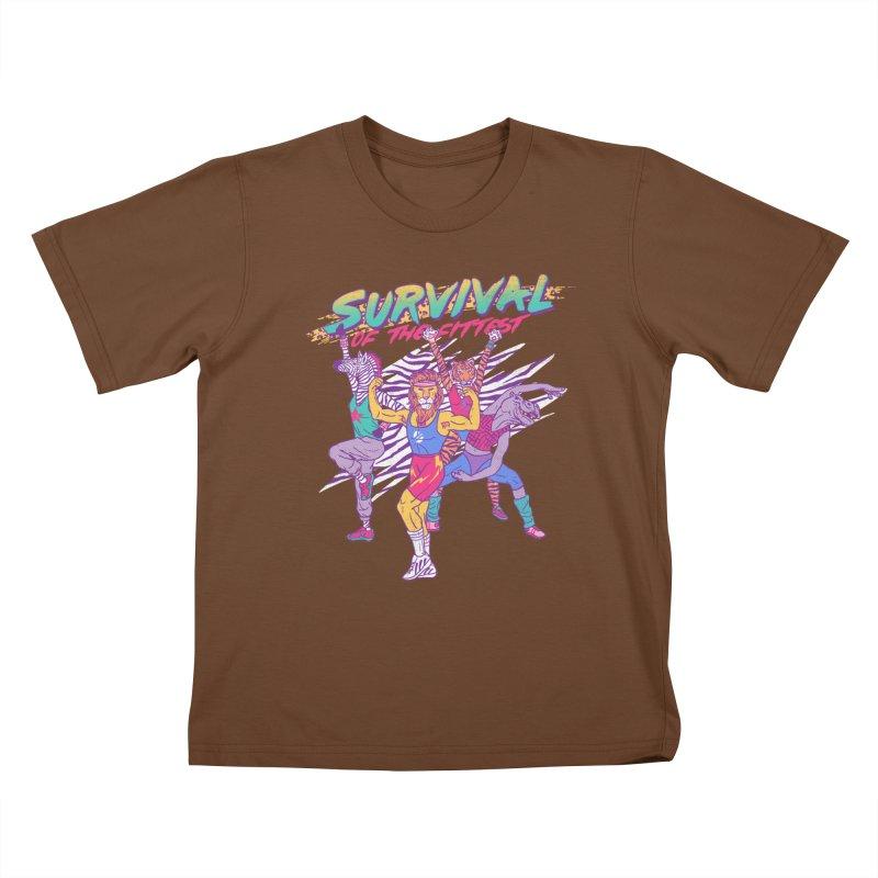 Survival Of The Fittest Kids T-shirt by hillarywhiterabbit's Artist Shop