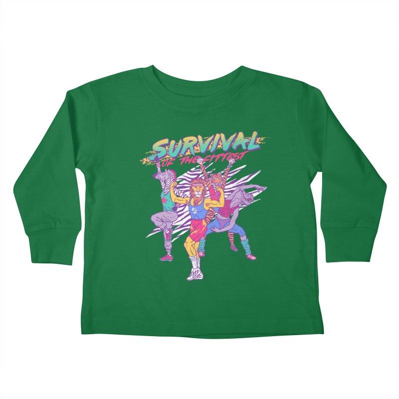 Survival Of The Fittest Kids Toddler Longsleeve T-Shirt by hillarywhiterabbit's Artist Shop