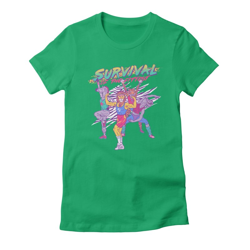 Survival Of The Fittest Women's Fitted T-Shirt by hillarywhiterabbit's Artist Shop