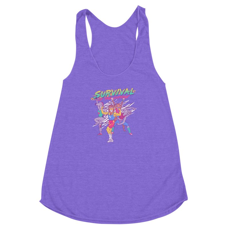 Survival Of The Fittest Women's Racerback Triblend Tank by hillarywhiterabbit's Artist Shop