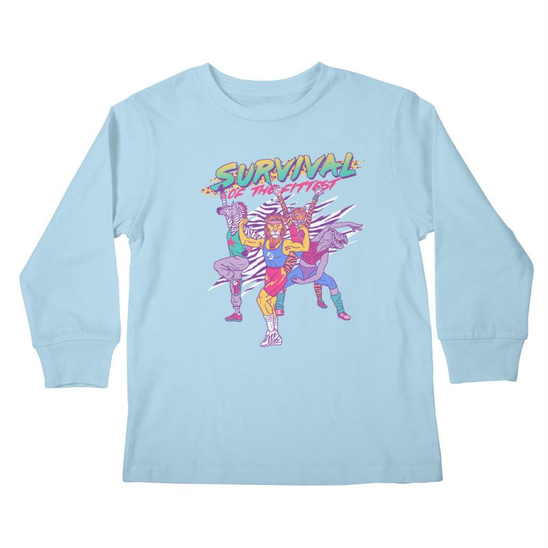 Survival Of The Fittest Kids Longsleeve T-Shirt by hillarywhiterabbit's Artist Shop