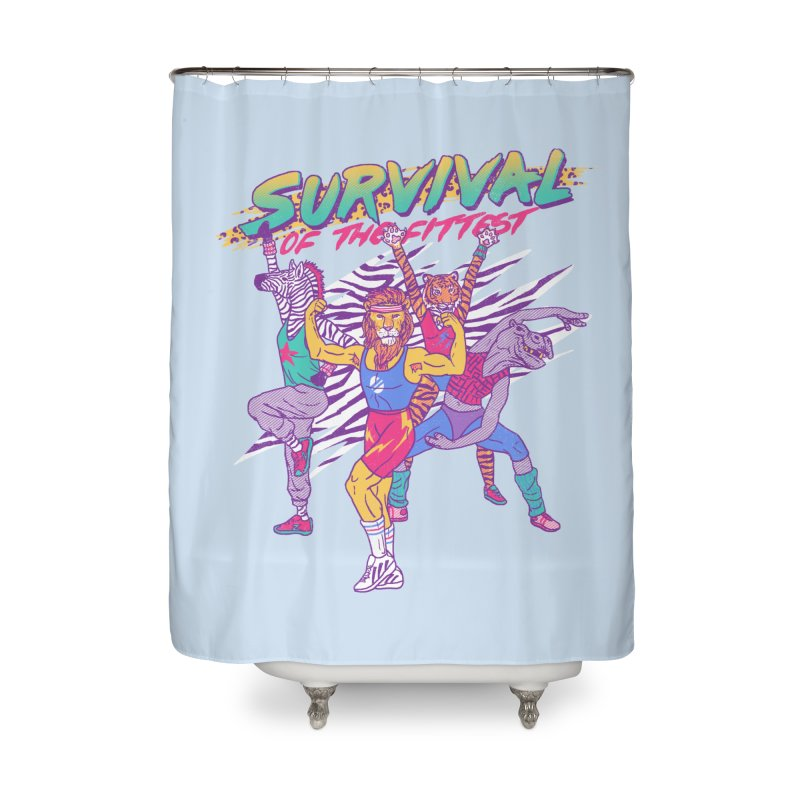 Survival Of The Fittest Home Shower Curtain by hillarywhiterabbit's Artist Shop