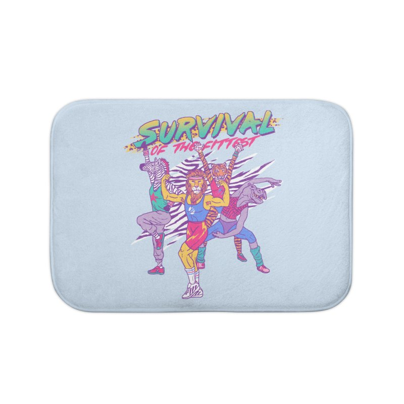 Survival Of The Fittest Home Bath Mat by hillarywhiterabbit's Artist Shop