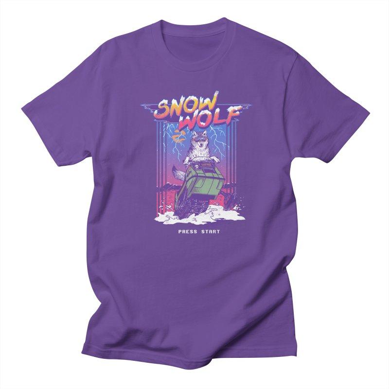 Snow Wolf Men's T-shirt by hillarywhiterabbit's Artist Shop