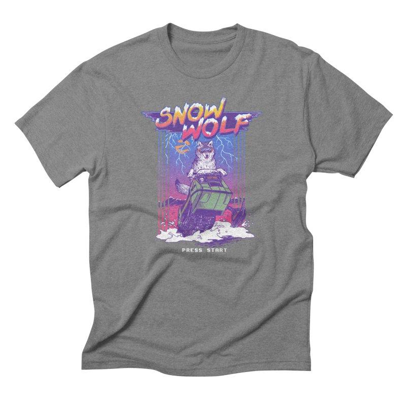 Snow Wolf Men's Triblend T-shirt by hillarywhiterabbit's Artist Shop