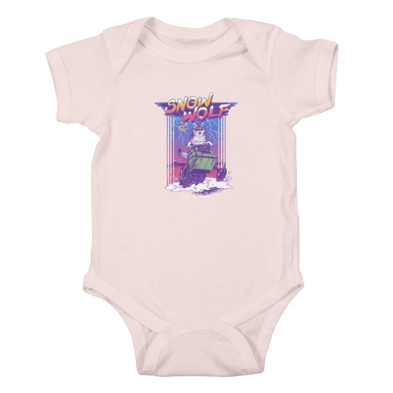 Snow Wolf Kids Baby Bodysuit by hillarywhiterabbit's Artist Shop